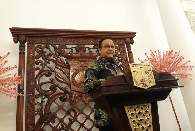 Gubernur DKI Jakarta, Anies Rasyid Baswedan di Balai Kota DKI Jakarta, Jumat (7/12).