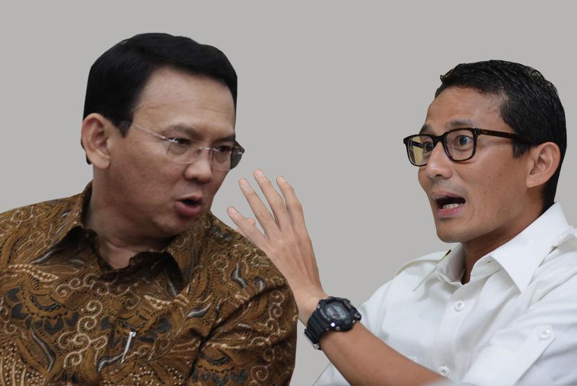 Gubernur DKI Jakarta, Basuki 'Ahok' Tjahaja Purnama vs calon wakil gubernur Sandiaga Uno