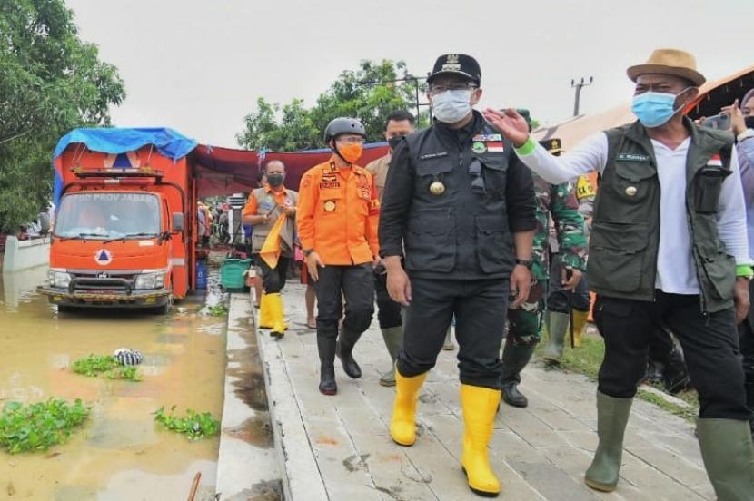 Gubernur Jabar Tinjau Lokasi Banjir di Subang dan Karawang