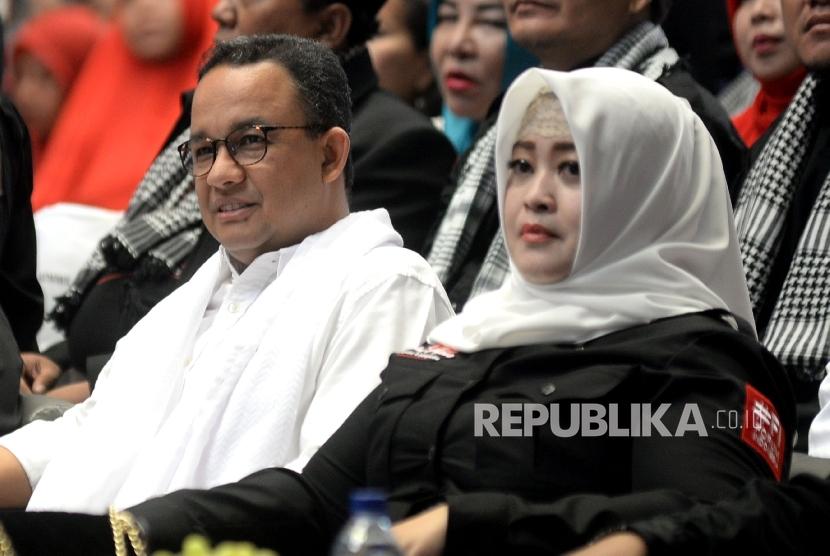 Gubernur Jakarta terpilih Anies Baswedan bersama anggota DPD RI Fahira Idris.