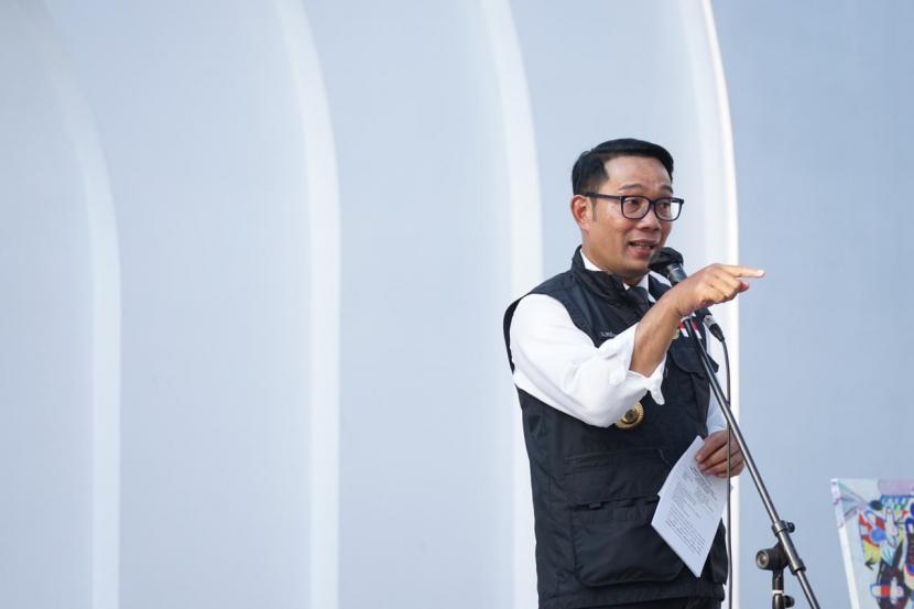 Gubernur Jawa Barat, Ridwan Kamil menghadiri peresmian Gedung Creative Centre Kota Bogor di gedung ex Bakorwil, Selasa (25/5).