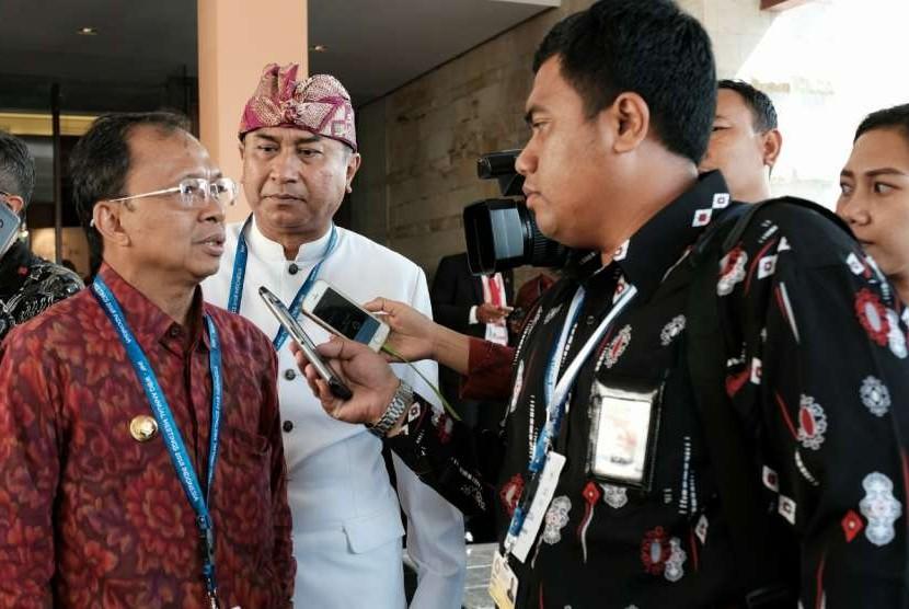 Gubernur Provinsi Bali, Wayan Koster bangga diadopsinya konsep Tri Hita Karana dalam Pertemuan Tahunan Dana Moneter Internasional (IMF) - Bank Dunia (World Bank) 2018 di Bali.
