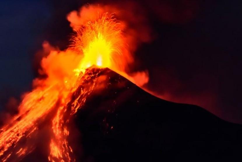 Gunung Berapi. Ilustrasi
