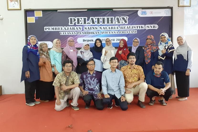 Guru-guru Yayasan Pendidikan Avicenna Prestasi (YPAP) menggelar pelatihan Pembelajaran Sains Nalaria Realistik (SNR).