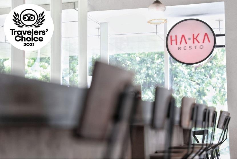 HaKa Resto Rasuna mengumumkan telah berhasil meraih penghargaan kelas dunia dalam ajang pemilihan Travelers Choice 2021.