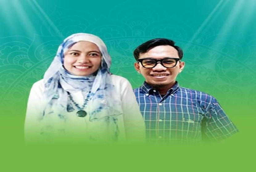 Hanifah dan Fatur, juara 3 kompetisi Syiar Digital Indonesia (SDI) kategori Talkshow.