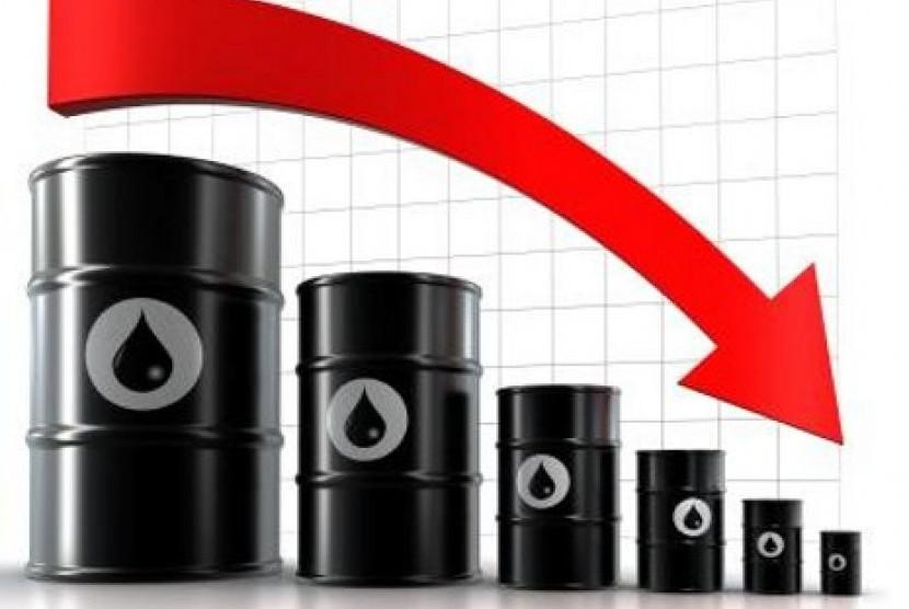 Harga minyak merosot (ilustrasi)