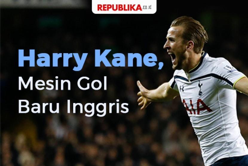 Harry Kane mesin gol Inggris
