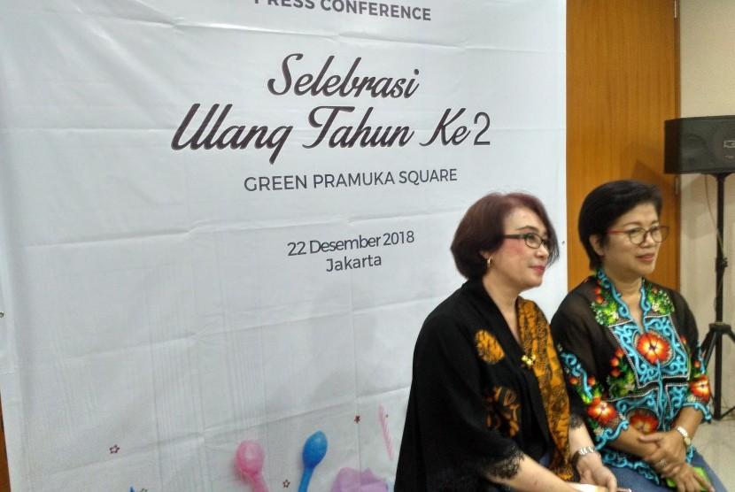 Head of Communications Green Pramuka City, Lusida Sinaga (kiri) dan General Manager Green Pramuka Square, Liza Monalisa (kanan).