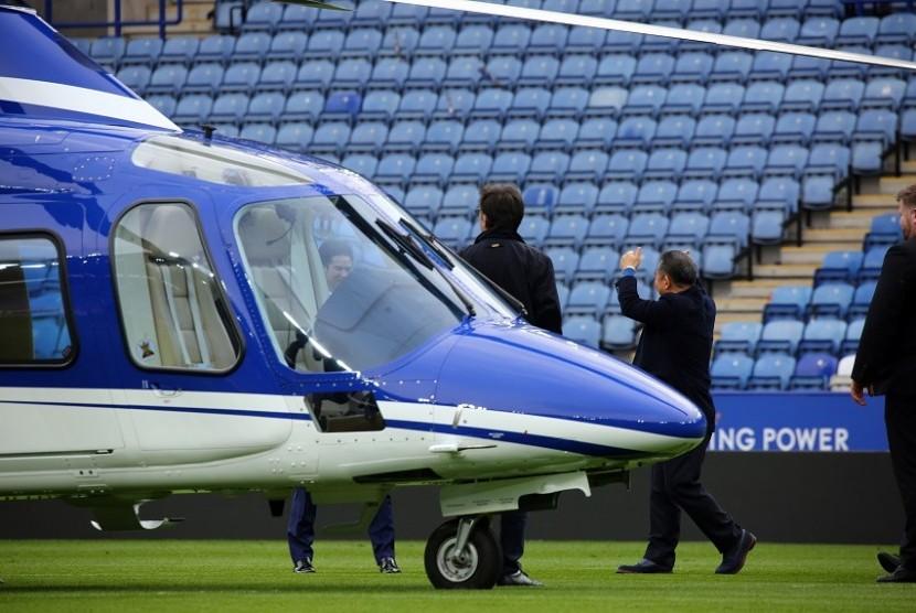 Helikopter pemilik Leicester, Vichai Srivaddhanaprabha.