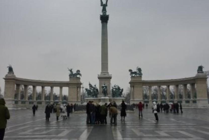 Heroes' Square di Budapest, Hungaria