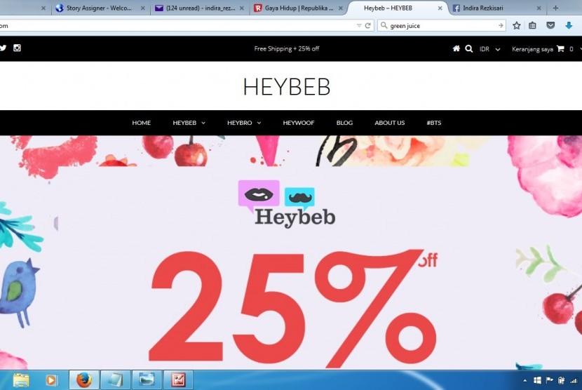 Heybeb.com berbeda karena menerapkan konsep kurator dalam dunia belanja online di Indonesia.