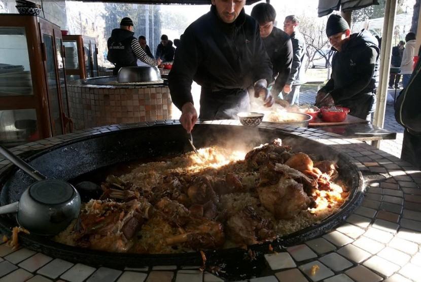 Hidangan nasi Pilaf di Samarkand
