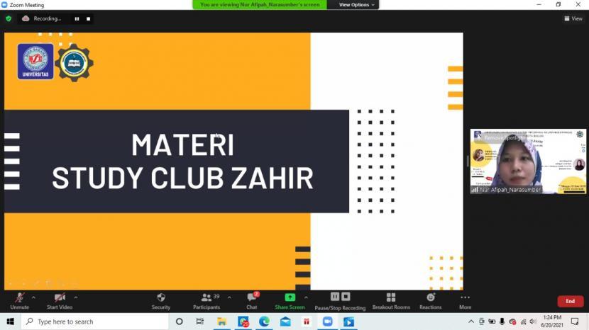 Himpunan Mahasiswa Sistem Informasi Akuntansi (Himasa) Universitas BSI (Bina Sarana Informatika) Kampus Bogor sukses mengadakan Study Club Zahir.