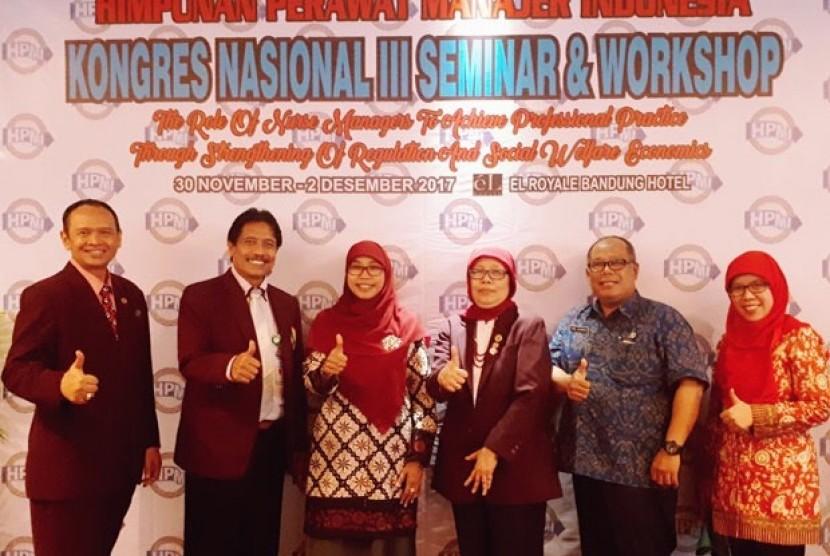 Himpunan Perawat Manajer Indonesia (HPMI) menggelar Kongres Nasional HPMI III yang berlangsung di El Royale Hotel, Jalan Merdeka, Kota Bandung, akhir pekan lalu.