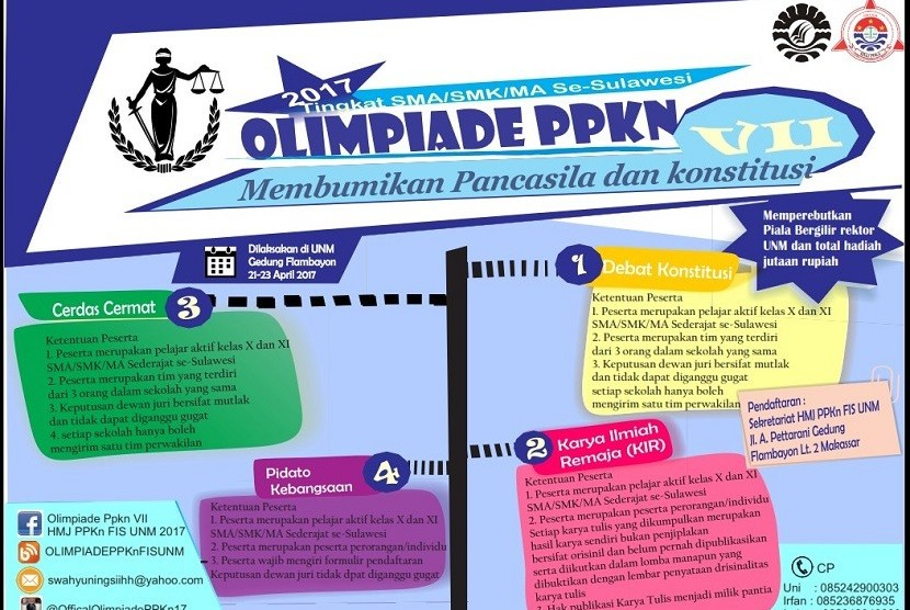 HMJ PPKn Gelar Olimpiade Tingkat SMA SE-Sulawesi