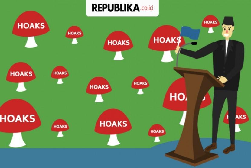 Hoaks (ilustrasi)