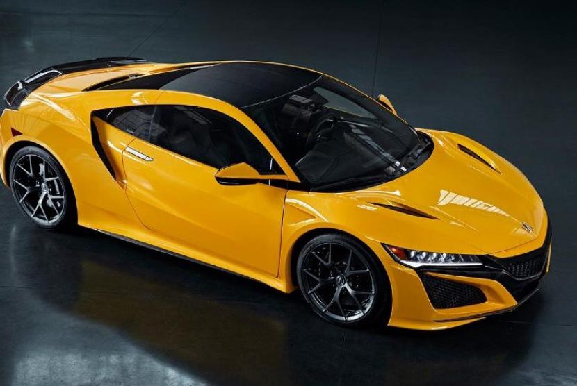 Honda NSX hadir dengan warna baru bernama Indy Yellow Pearl.