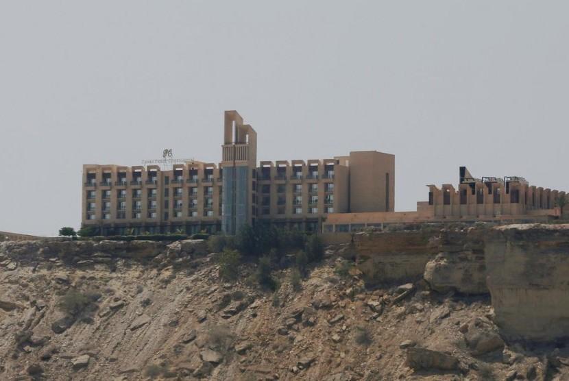 Hotel Pearl Continental (PC) di Gwadar, Balochistan, Pakistan, 11 April 2017.