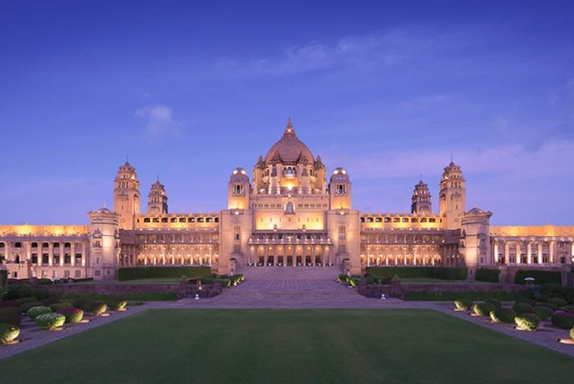 Hotel Umaid Bhawan Palace di India.