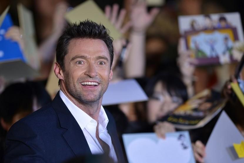 Hugh Jackman dalam gala premiere film Wolverine