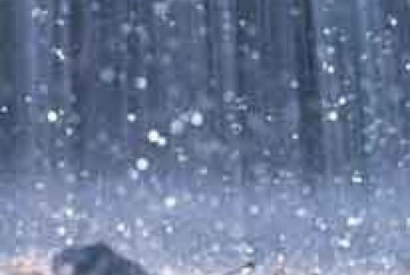 Hujan es, ilustrasi