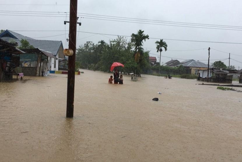 banjir, ilustrasi