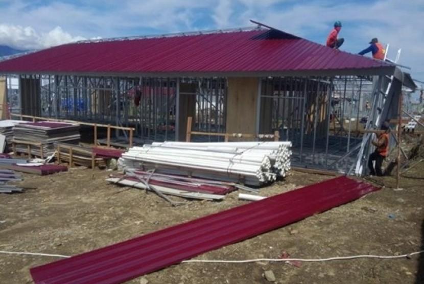 Hunian Sementara (Huntara) korban bencana gempa bumi di Sulawesi Tengah