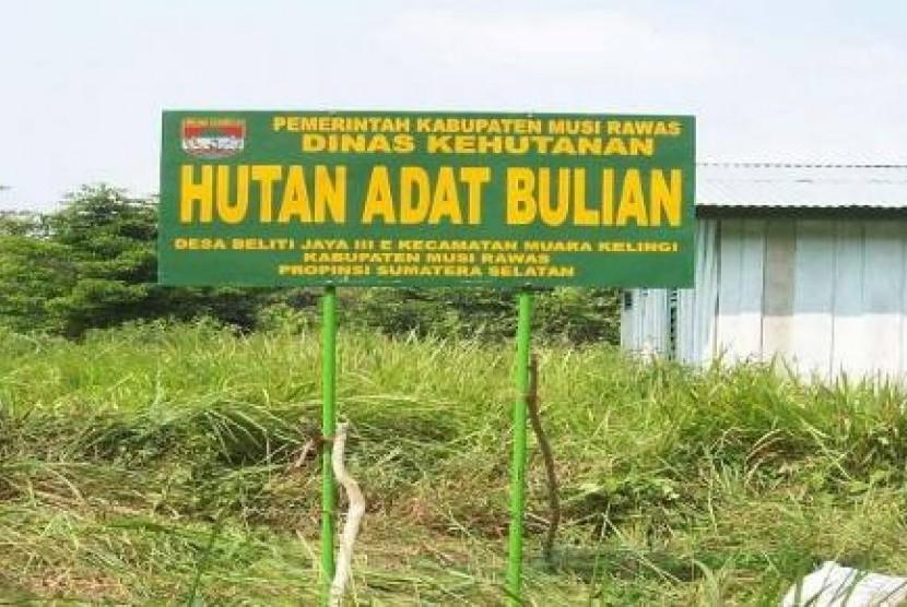 Hutan Adat (ilustrasi)