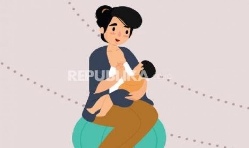 Ibu yang terkonfirmasi positif Covid-19 tetap bisa menyusui bayinya (ilustrasi).