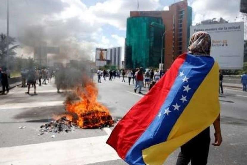 Ilustrasi krisis Venezuela.