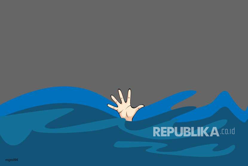 Korban hanyut. (Ilustrasi)