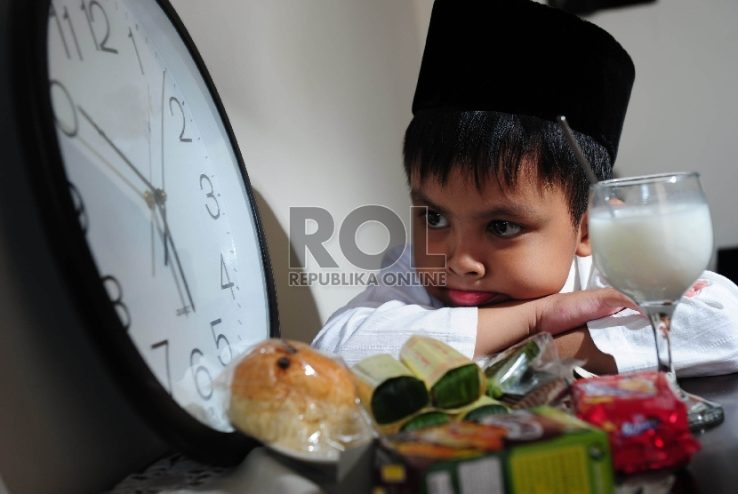 Ilustrasi Anak Berpuasa.