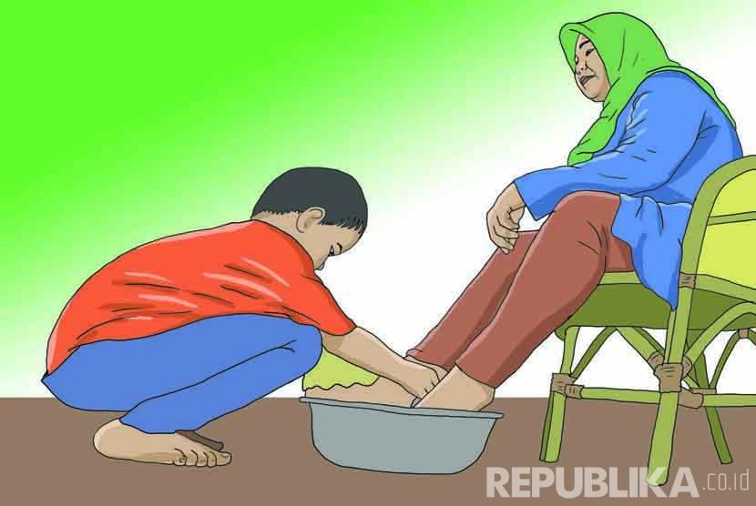 Ilustrasi Berbakti kepada Orang Tua