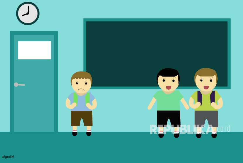 Ilustrasi Bullying School