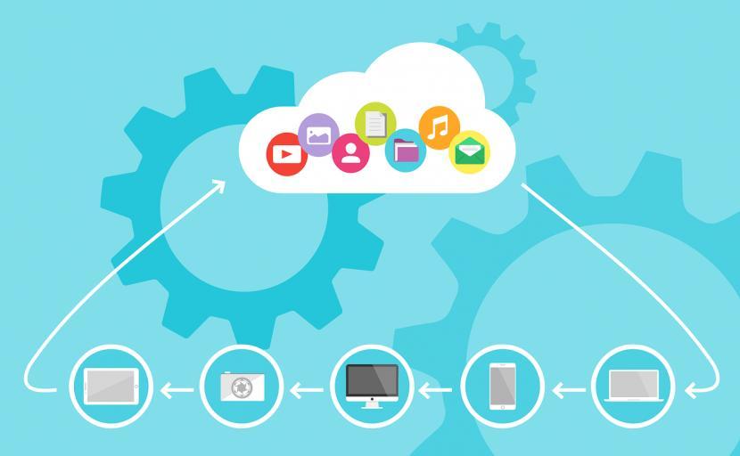 Ilustrasi cloud alias komputasi awan.