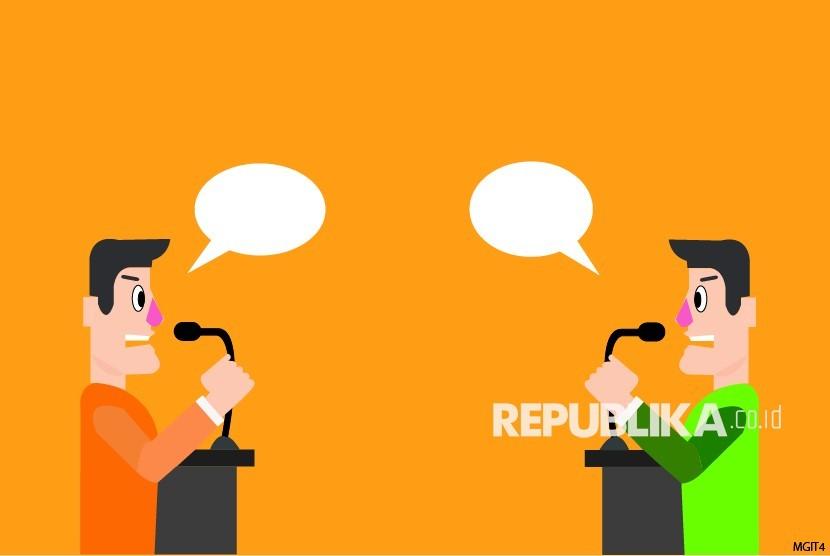 Ilustrasi Debat. Ketua Komisi Pemilihan Umum (KPU) Kabupaten Mojokerto Muslim Bukhori menilai debat publik menjadi ajang adu program dan gagasan untuk meyakinkan warga setempat memilih pasangan calon bupati dan wakil bupati Mojokerto pada Pilkada 9 Desember 2020.