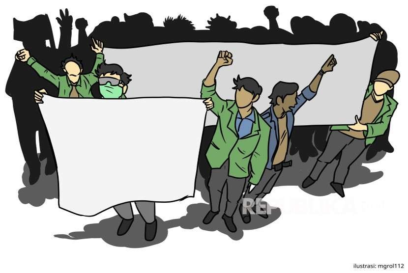 Ilustrasi Demontrasi