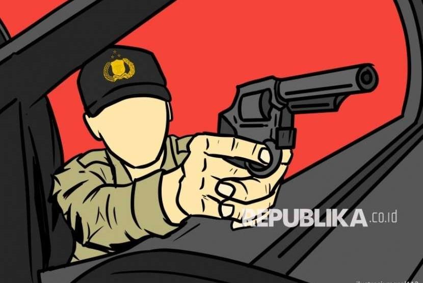 Ilustrasi oknum polisi