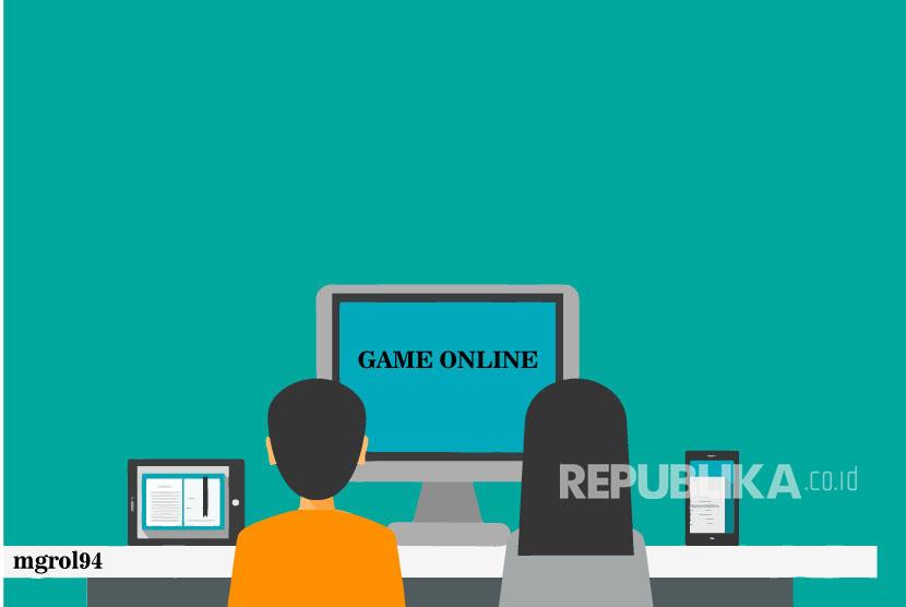 Ilustrasi Game Online