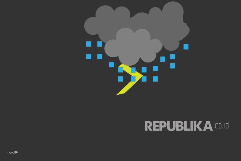 Ilustrasi Hujan Es