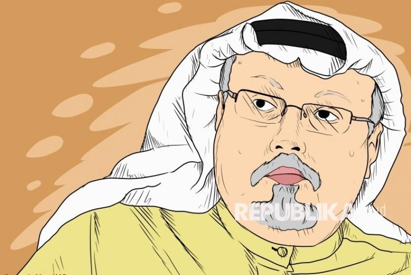 Ilustrasi Jamal Khashoggi