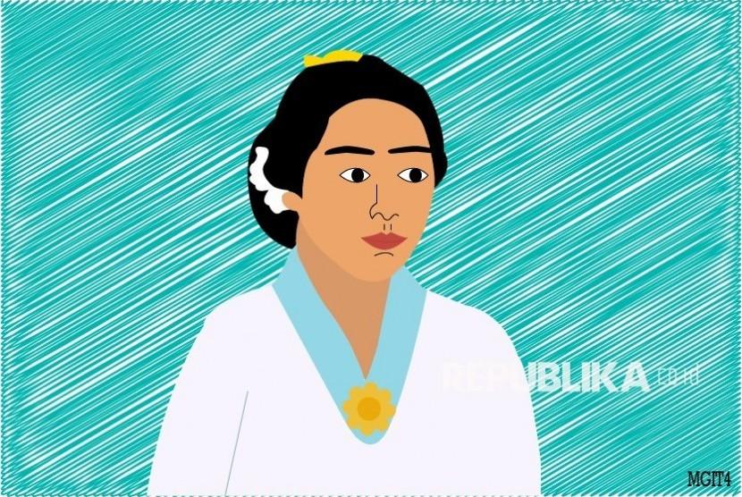 Semangat Kartini dari Desa Linggasari. Ilustrasi Kartini
