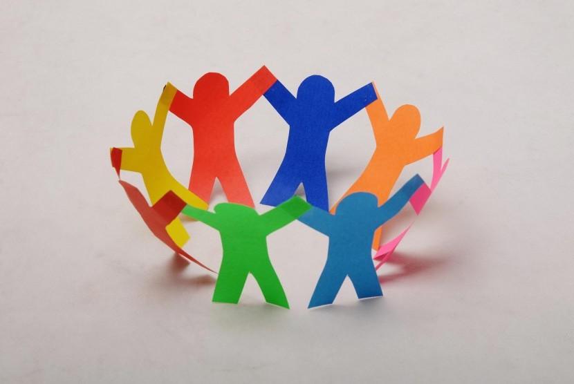 Ilustrasi keberagaman dan persatuan.