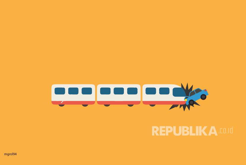 Kereta Bandara Tabrak Satu Mobil di Padang