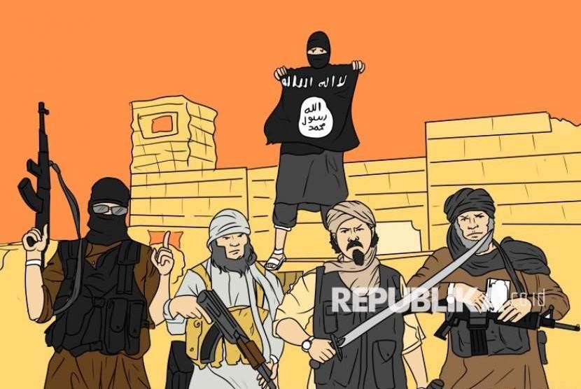 Banyak mantan ISIS yang melarikan diri ke Turki. Ilustrasi Kelompok ISIS