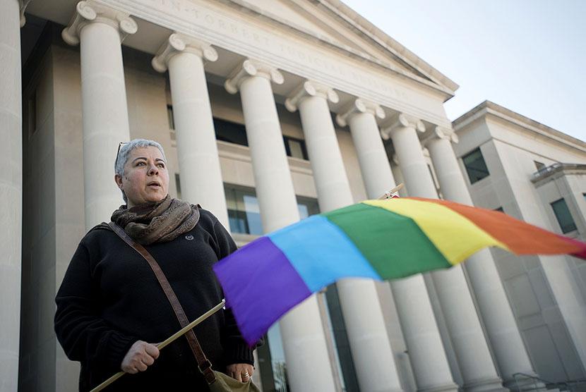 Ilustrasi kelompok LGBT.