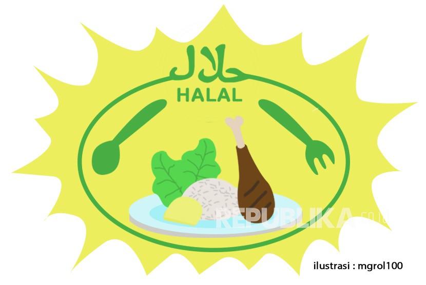 Sertifikat halal membuka peluang perusahaan Kroasia. Ilustrasi Makanan Halal