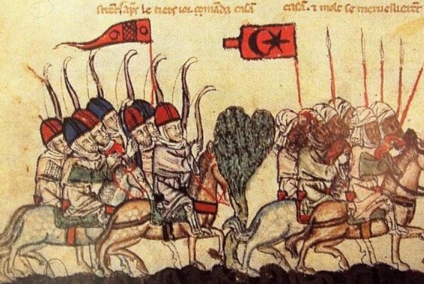 Ilustrasi militer Dinasti Mamluk.