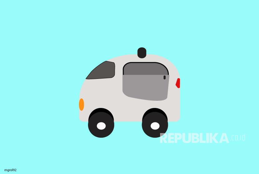 Ilustrasi Mobil Swakemudi